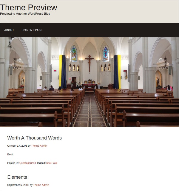 Free Church Website Theme