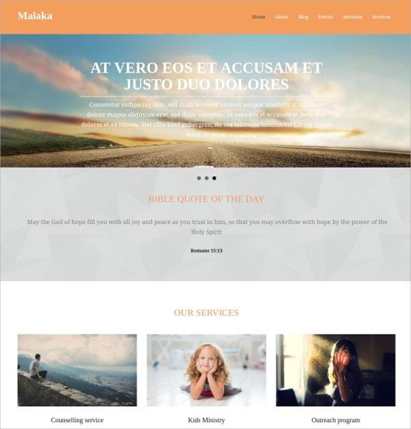 free premium church website theme - Free Church Website Templates