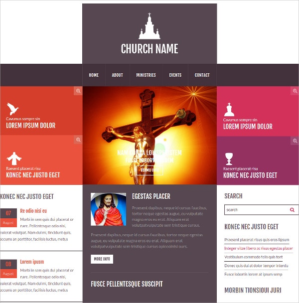 church religious bootstrap website template - Free Church Website Templates