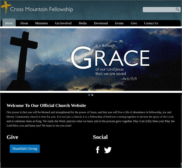 Official Church WordPress Website Theme