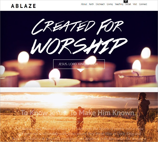 Free Creative Church WordPress Website Theme