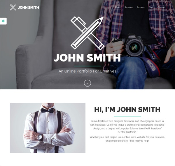 Multipurpose One Page Website Theme $10
