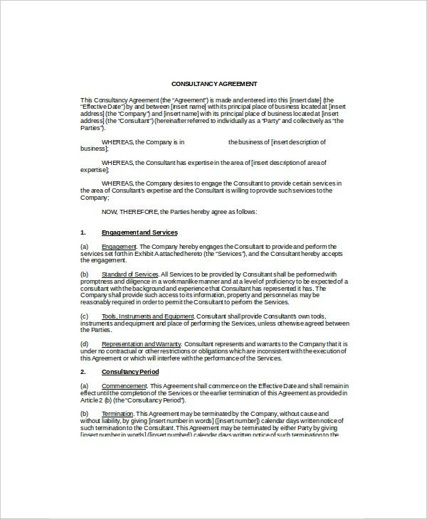 it consulting contract template it contract template 5 free word pdf documents