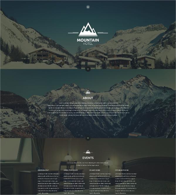 Mountain Hotel & Restaurant Website Template $69