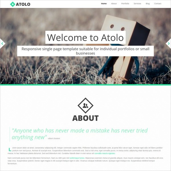 Isotope One Page WordPress Website Theme $20
