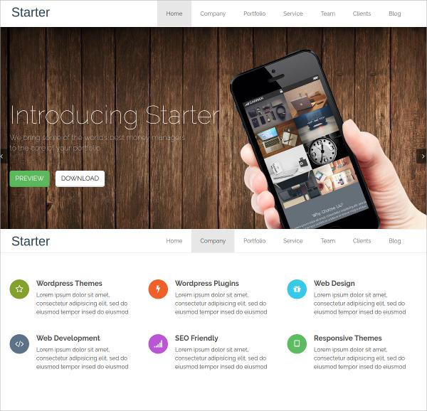 Free Responsive Single Page WordPress Website Theme