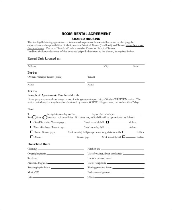 Rental Lease Template - 13+ Free Word, PDF Documents Download ...