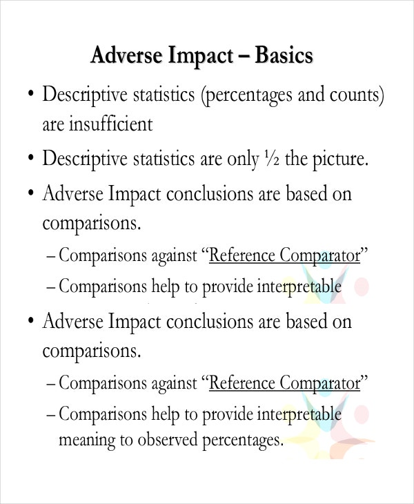 adverse impact analysis template