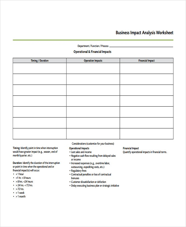 Impact analysis template 11 free word pdf documents for Risk and impact analysis template