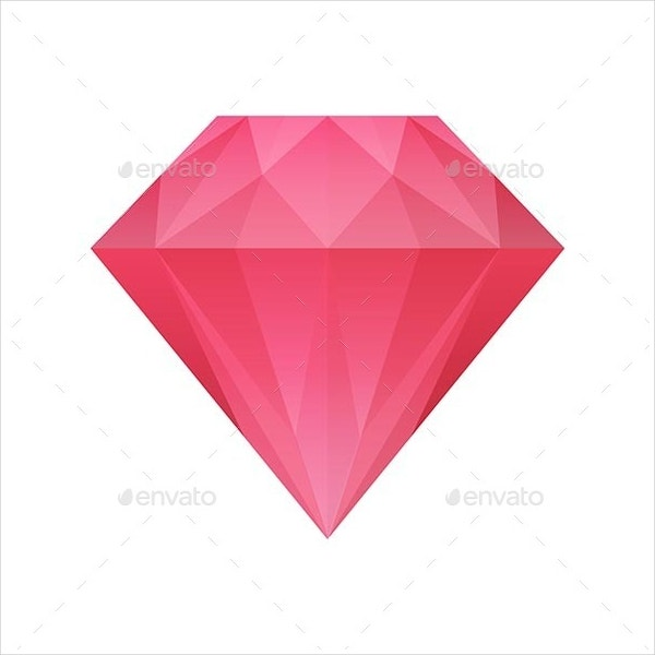 Red Diamond Vector Illustartion