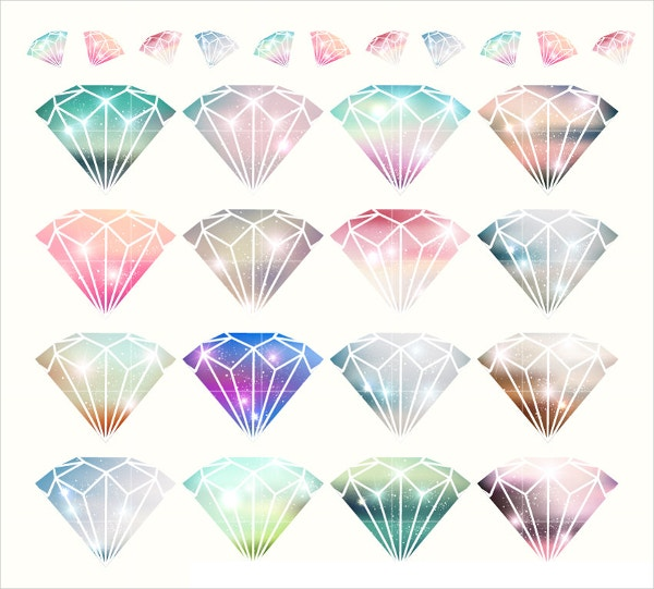 Diamond Crystal Vector