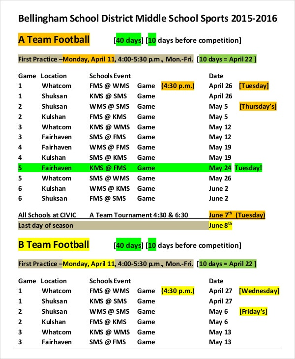 sports league schedule maker