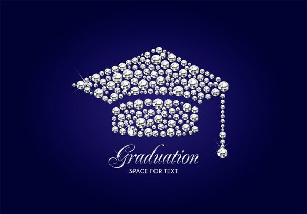 Free Diamond Graduation Cap Vector