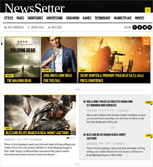 News & Technology WordPress Theme $59