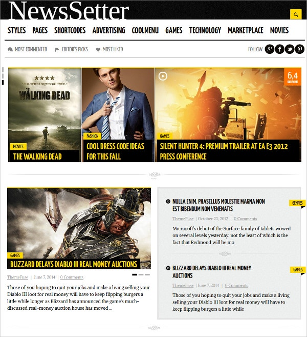 technology news wordpress theme