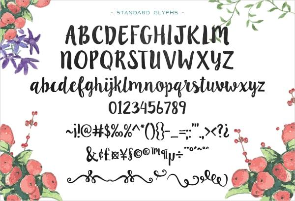 Ink Blossoms Doodle Font