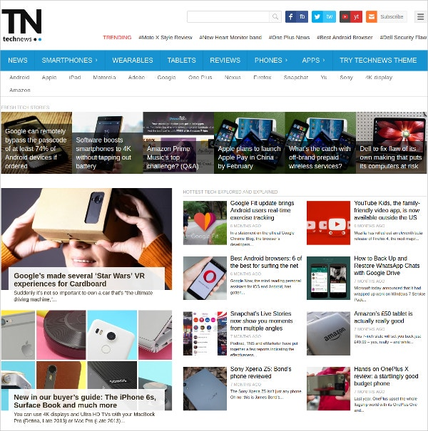 technology magazine wordpress theme