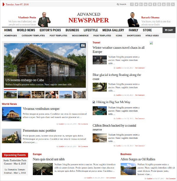 online unique news paper wordpress theme