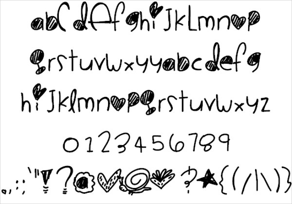 Cookie Monster Doodle Font