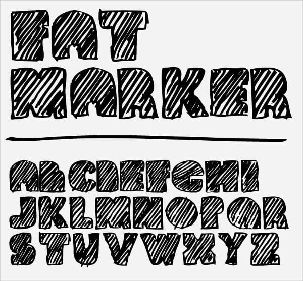 Fat Marker Doodle Font