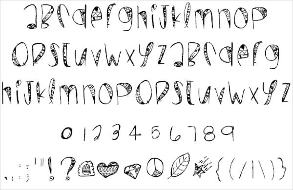 Wild Crazy Doodle Font