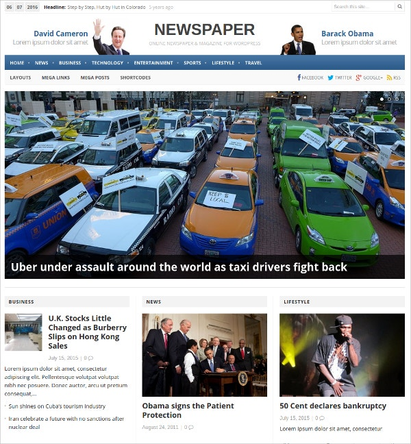 Beautiful WordPress Theme For News $39