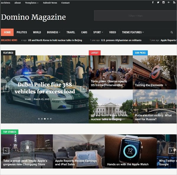 multifunctional news wordpress theme