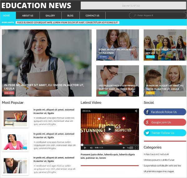 education news wordpress theme 75