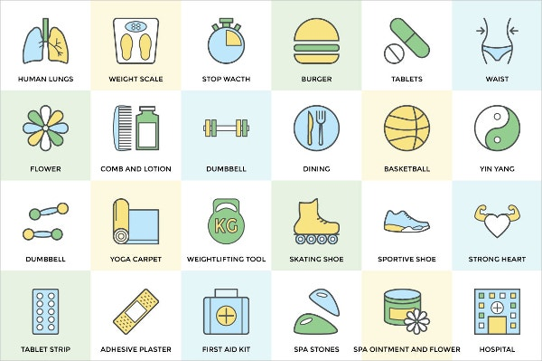 health and fitness icons1