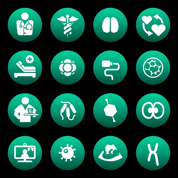 health science and biomedical icons