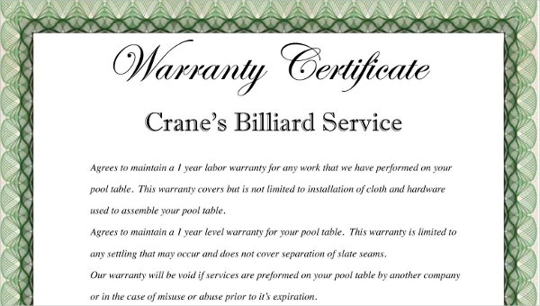 warrantycertificatetemplate