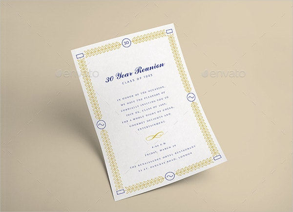 Official Event Invitation Template