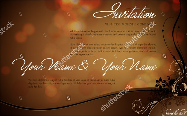 Vector Official Invitation Template