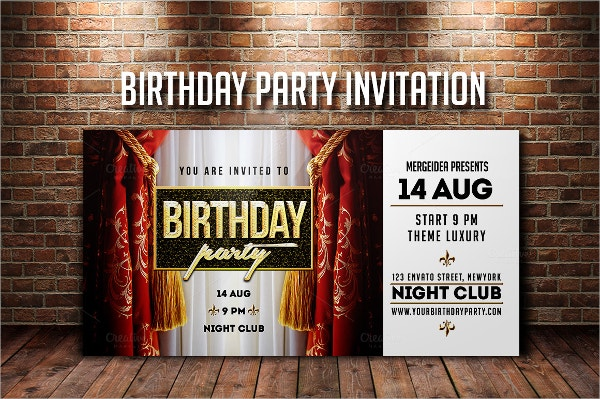 Official Birthday Invitation Template