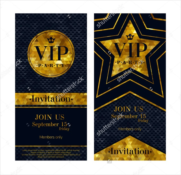 Official VIP Invitation Template