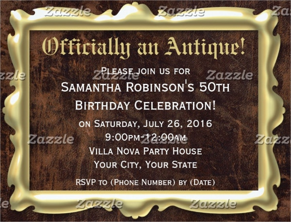 Officially an Antique Invitation Template