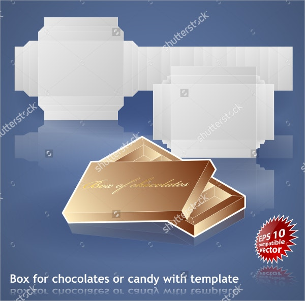 Chocolate or Candy Box Template