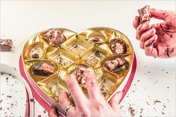 Valentines Day Chocolate Box gift Template