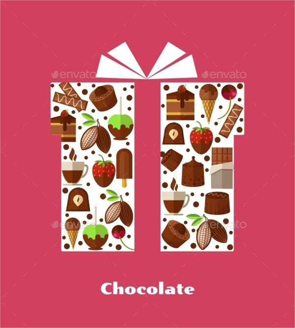 chocolate giftcard box template
