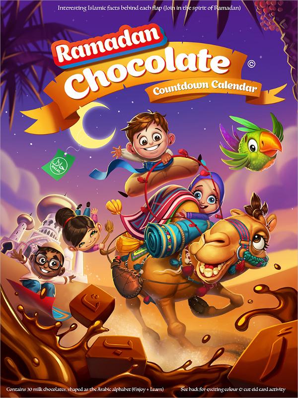 Ramadan Chocolate Box Template