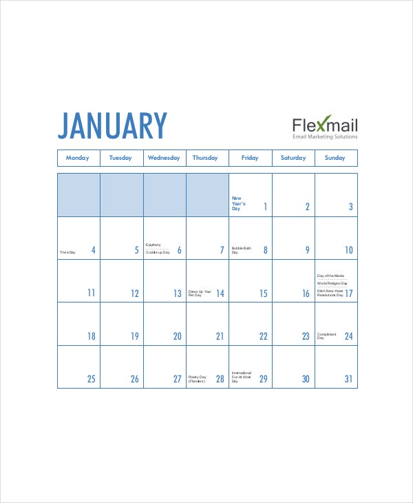 Email Marketing Content Calendar