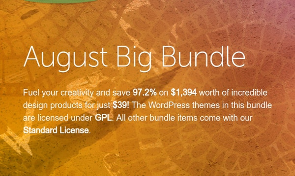 August Big Bundle at $39 Only