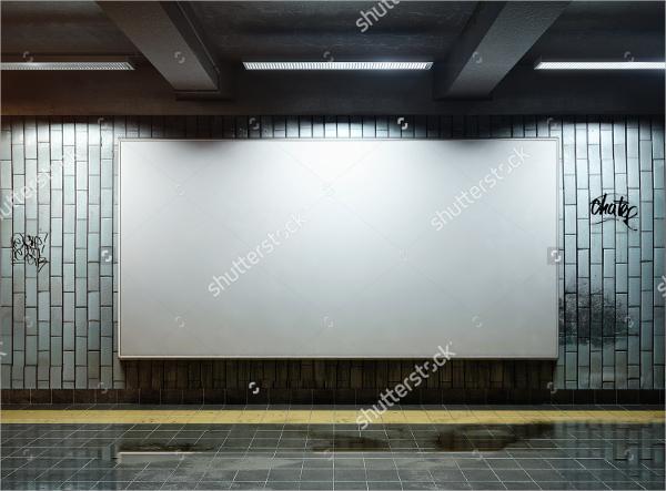 billboard underground metro mockup