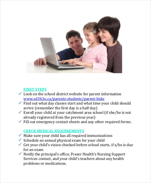 school checklist template