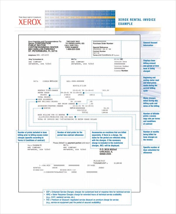 Rent Invoice Template Samples Datariouruguay