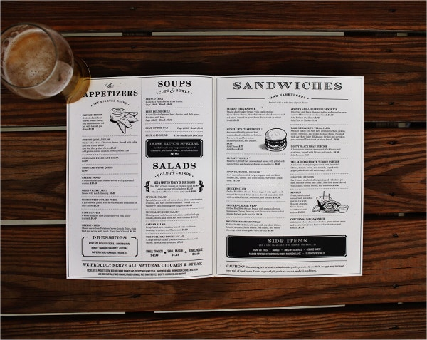 irish pub menu template
