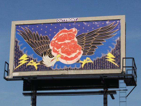 eagle billboard mockup