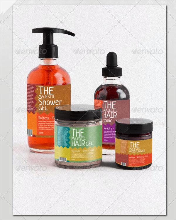 beauty product label template