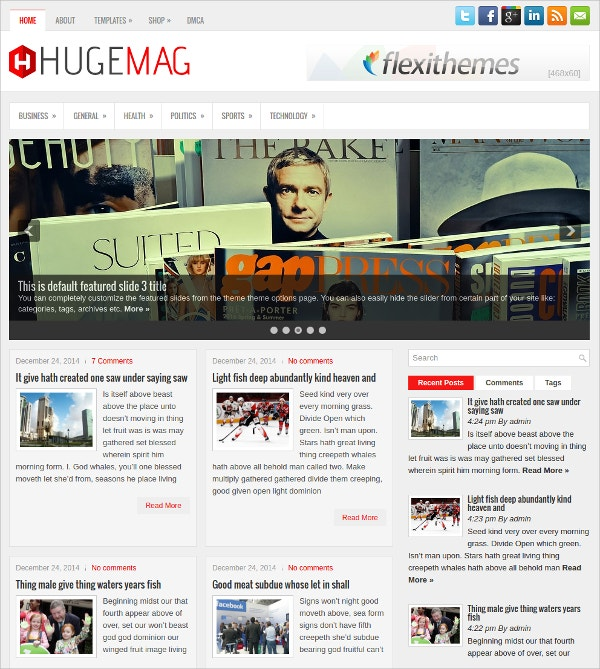 Stunning Free News Responsive WordPress Theme