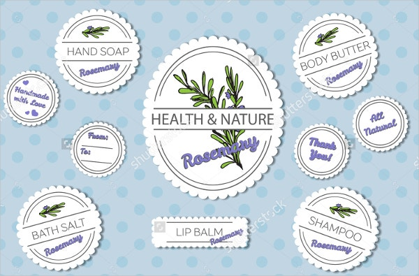Bath Product Label Template